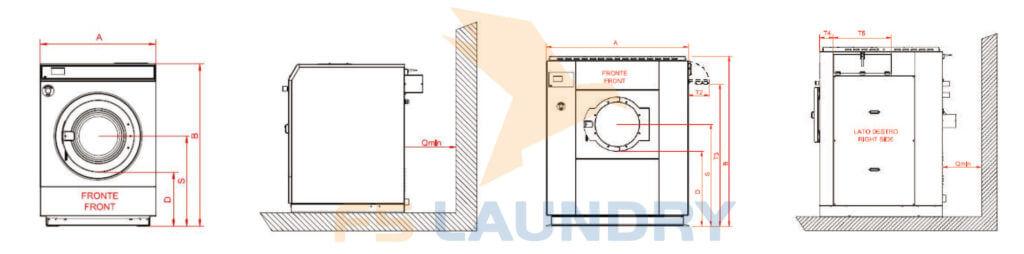 Cấu trúc máy giặt công nghiệp